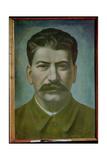 Portrait of Joseph Stalin (Iosif Vissarionovich Dzhugashvili) (1879-1953) 1936 Giclee Print by Pavel Nikolaevich Filonov