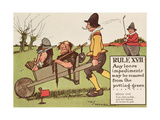 Rule XVII: Any Loose Impediments May Be Removed from the Putting-Green, from 'Rules of Golf',… Giclee Print by Charles Crombie
