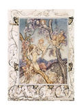 A Fairy Song, from 'A Midsummer Night's Dream', 1908 Gicleetryck av Arthur Rackham