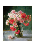 Still Life of Carnations Giclee Print by Emile Vernon