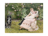 A Rest in the Garden, 1900 Giclee Print by Edward Killingworth Johnson