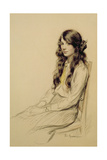 Portrait of a Young Girl, c.1914 Giclee Print by Frederick Pegram