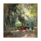 Fountain in the Borghese Gardens Giclee Print by Charles Hodge Mackie