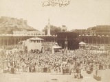 Praying around the Kaaba, Mecca, 1900 Papier Photo par S. Hakim