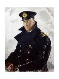 Lieutenant Grahame Johnstone, D.S.C., R.N.V.R. (D.1946) 1940 Giclee Print by Doris Clare Zinkeisen