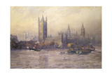 The Houses of Parliament, Watercolour Giclee Print by Maude Parker