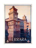 Poster Advertising Ferrara, 1928 Giclee Print by Mario Borgoni