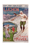 Poster Advertising the Resort of 'Luchon' with the 'Chemins de Fer d'Orleans', 1908 Giclee Print by Ernest Louis Lessieux