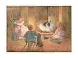 Story-Time Giclee Print by Edith Alice Andrews
