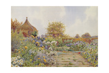 The Gardens at Chequers Court, Buckinghamshire Giclee Print by Ernest Arthur Rowe
