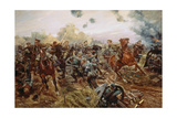 The First VC of the European War, 1914 Giclee Print by Richard Caton Woodville II