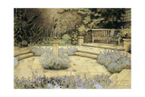 View of a Paved Garden with Beds of Lavender Designed by Percy Can, 1923 Giclee Print by George Sheringham