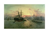 London Bridge Giclee Print by Charles John De Lacy