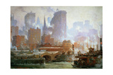 Wall Street Ferry Ship Giclee Print by Colin Campbell Cooper