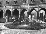 Wounded Soldiers of the Scottish Women's Hospital in the Gardens of the Abbey of Royaumont, 1915 Photographic Print by Jacques Moreau