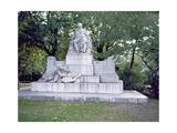 Monument to Johannes Brahms (1833-97) 1908 Giclee Print by Rudolf von Weyr