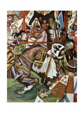 'Fair and True He Hit the Norman on the Visor', Illustration from 'Ivanhoe for Boys and Girls',… Giclee Print by Maurice Greiffenhagen