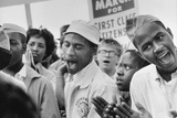 The March on Washington: A Group from Detroit, 28th August 1963 Photographic Print by Nat Herz