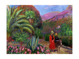 Woman with Child on a Donkey, c.1925 Giclee Print by William James Glackens