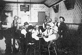 Playing Cards in a Western Saloon, c.1900 Reprodukcja zdjęcia autor American Photographer