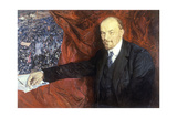 Vladimir Ilyich Lenin (1870-1924) and a Demonstration, 1919 Giclee Print by Isaak Israilevich Brodsky