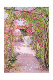 A Rose Arbour and Old Well, Venice Giclee Print by Ellen Fradgley