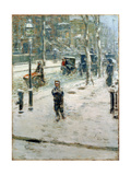 Snow Storm, Fifth Avenue, 1907 Giclee Print by Childe Hassam