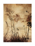 """The Fairy's Tightrope"" from 'Peter Pan in Kensington Gardens' by J.M. Barrie, 1906 Giclee Print by Arthur Rackham"