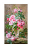 Still Life of Roses in a Glass Vase Giclee Print by Frans Mortelmans