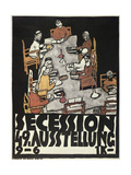 Poster for the Vienna Secession, 49th Exhibition, Die Freunde, 1918 Giclee Print by Egon Schiele