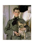 Portrait of Count Feliks Feliksovich Sumarokov-Yelstov (1887-1967) Later Prince Yusupov, 1903 Giclee Print by Valentin Aleksandrovich Serov