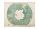 South Polar Chart, 1901 Giclee Print by  English School