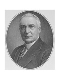 Portrait of Warren Harding (1865-1923) 29th President of the United States of America Giclee Print by  American School