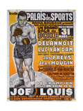 Poster Advertising the Boxing Match Between the Belgian Champion, Delannoit and the Dutch… Giclee Print by  Belgian School