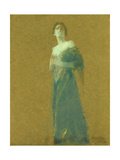 Woman in Blue, 1919 Giclee Print by Thomas Wilmer Dewing