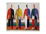 Sportsmen, or Suprematism in Sportsmen's Contours, 1928-32 Giclée-trykk av Kasimir Malevich