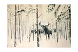 Moose, 1920 Giclee Print by Julian Falat