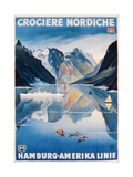 Poster Advertising the 'Hamburg-Amerika Linie' Giclee Print by German School