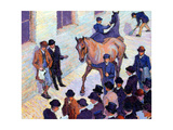 A Sale at Tattersalls, 1911 Giclee Print by Robert Polhill Bevan
