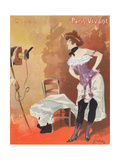 Woman Being Photographed in a Corset, Caricature for 'Paris-Vivant', 1901 Giclee Print by Jacques Wely