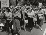 The March on Washington: Ladies Garment Workers' Union Marching on Constitution Avenue, 28th… Photographic Print by Nat Herz