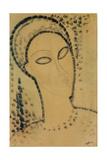Testa|Head Stampa giclée di Amedeo Modigliani