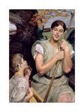 Angel and Shepherd Boy, 1911 Giclee Print by Jacek Malczewski