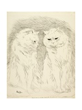 Pals Giclee Print by Louis Wain