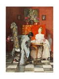 The Chess Players, or Black to Move, 1920 Giclee Print by Joseph Walter West
