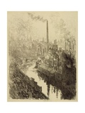 The Big Chimney, Sheffield Giclee Print by Joseph Pennell