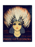 Cover for Score of 'Die Perlen Der Cleopatra', Operetta by Oscar Straus, 1923 Gicléetryck av German School