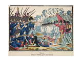 The Battle of Waterloo, 1815 Engraved by Francois Georgin (1801-63) from 'Edition de La Revue… Giclee Print by Jean-Charles Pellerin