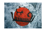 Copy of a Bronze Age Rock Painting Giclee Print by  Swedish School