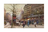 The Great Boulevards Giclee Print by Eugene Galien-Laloue